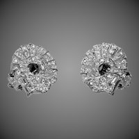 Carolee Deco Style Rhinestone Earrings