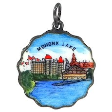 Mohonk Lake Sterling Silver & Enamel Charm Made in Germany