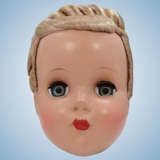 R & B Arranbee Hard Plastic Doll Head With Perfect Braided Wig
