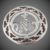 Mor-Cuernavaca Sterling Silver Mexico Shadowbox Pin
