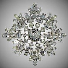 WEISSCO Weiss HUGE Snowflake Rhinestone Pin