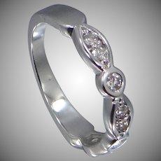 14k White Gold Diamond Ring   Wedding Band   Stacking Ring
