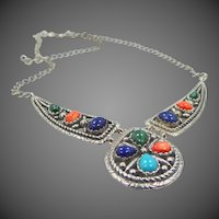 Relios Carolyn Pollack Sterling Silver & Gemstones Necklace