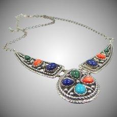 Relios Carolyn Pollack Sterling Silver & Gemstones Necklace