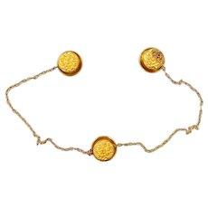 Victorian 14k Gold Collar Button Hole Studs