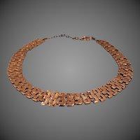 Renoir Copper Flexible Links Bib Necklace