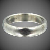 "14k Solid White Gold ""Artcarved"" Comfort Edge Size 7 Stacking Ring 