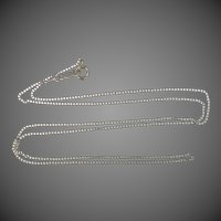 "14k White Gold Rhodium Plated 18"" Long Chain"