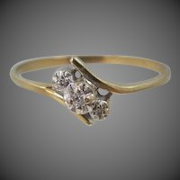 10k Gold Lady's Size 7 Diamond Ring