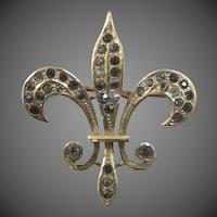 Victorian 14k Gold Fleur deLis Pin