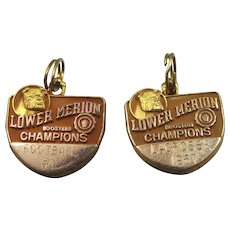 1960's Lower Merion Champions Lacrosse Charms