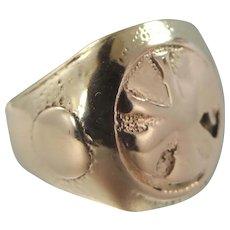 Antique 10k Gold Fireman's Ring