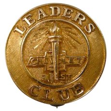 10k Gold Chevrolet Leaders Club Service Pin