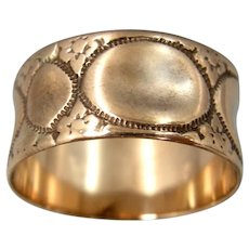Victorian 10k Solid Gold Cigar Band Ring