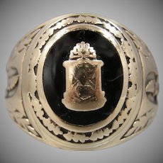 Early 10k Solid Gold Mans Fraternal or Class Ring