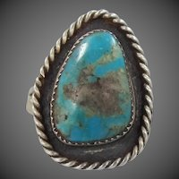 Garrison Boyd Navajo Native American Sterling Silver Turquoise Ring