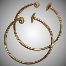 14k Gold Hoop Earrings For Non Pierced Ears