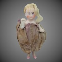 Antique Germany 3 Piece Bisque Pin Cushion Doll