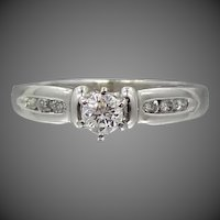 Platinum and Diamonds Engagement or Right Hand Ring