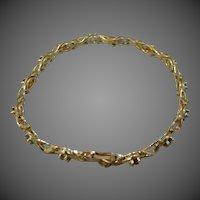 14k Solid Gold Gemstones Bracelet