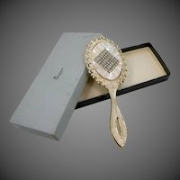 Weisner Rhinestone Hand Mirror Mint in Original Box
