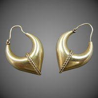 Neat Sterling Vermeil Hoop Earrings