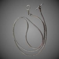 "Balinese Sterling Silver 32"" Long Oxidized Sturdy Chain"