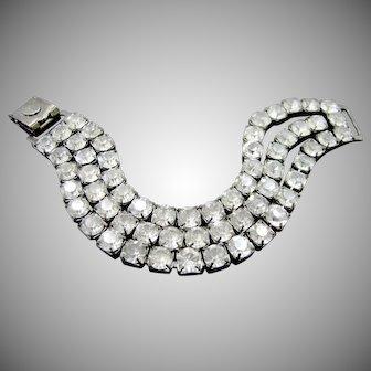 Kirk's Folly Oxidized Triple Strand Rhinestones Bracelet