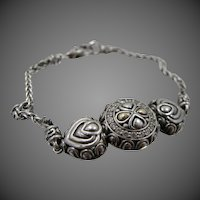 Angela by John Hardy Sterling & 14K Gold CZ Bracelet