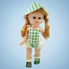 Vogue Ginny 1955 Gym Kids Green & White Checked Outfit
