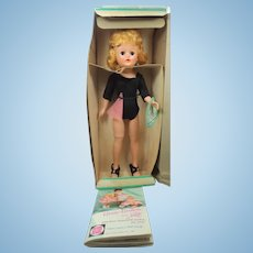 1950's Vogue Jill Doll With Original Box, Wrist Tag, Booklet & Outfit