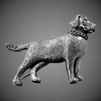 Solid Sterling Silver Large Breed Dog Pin Labrador Retriever