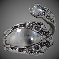 Alvin Sterling Silver Size 7 1/2 Ring in the Prince Eugene Silverware Pattern