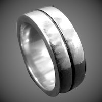Heavy Solid Sterling Silver Size 10 Cigar Band Ring