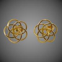 14k Gold Multi Love Knot Pierced Earrings