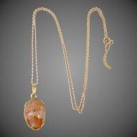 14k Gold Boulder Opal Necklace