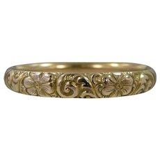 1910 George L. Paine Co. Gold Filled Repousse Bangle Bracelet