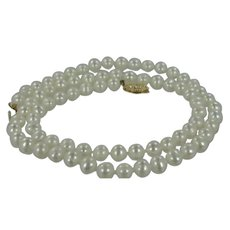 "14k Gold Cultured Pearls 18"" Long Necklace"