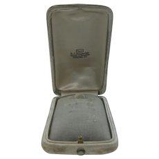 Victorian Velvet Jewelry Box from Pottsville, PA Jeweler