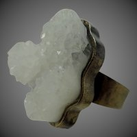 Low Luv Erin Wasson Rough Quartz Crystal Size 6 1/2 Ring