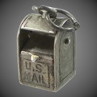 1930's Sterling Silver Movable U.S. Mail Box Charm
