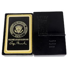 """1980's George Bush President of the U.S. Playing Cards """"Welcome Aboard Marine One"""""""