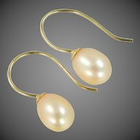 Jacmel 14k Gold Freshwater Pearls Pierced Earrings