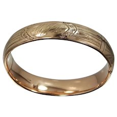 Finberg Mfg. Co. Victorian GF Bangle Bracelet