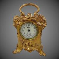Antique Art Nouveau Jennings Bros. Vanity Table Clock