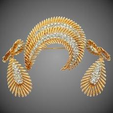 Capri Brooch & Matching Clip on Earrings