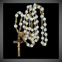 Beautiful Gold Filled Faceted Glass Crystals Art Deco Rosary