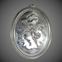 1973 Oneida Sterling Silver Cherub with Wings Christmas Ornament or Pendant