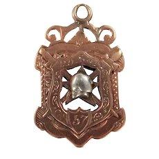 10k Gold Victorian Era Patriotic Order Sons of America Watch Fob P.O.S.ofA.