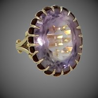10k Gold Victorian Era Amethyst Ring